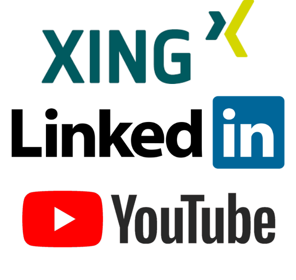 Xing LinkedIn Youtube